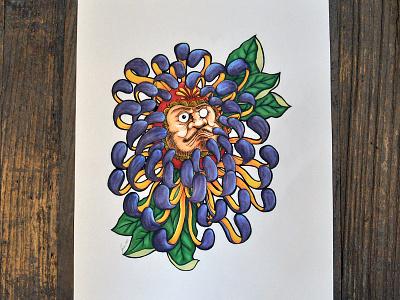 Daruma daruma tatttoo giveaway juan arias illustration drawing bodymoving.net