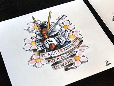 Gundam Ink gundam prints manonegra.nl juan arias ink tattoo art