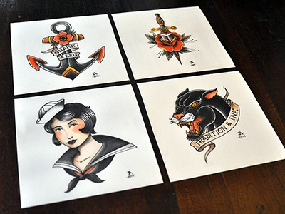 Tradition & Ink ink tattoo traditional manonegra juan arias illustration limited edition