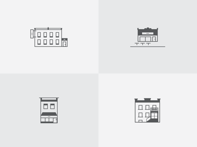 Architecture Icons buildings iconography flat line real estate architecture icons