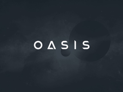 OASIS - Ready Player One branding fan art lettering astronomy planets ready player one typography logo book