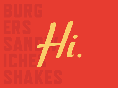 Drive-In Brand Identity typography lettering identity hello hi restaurant burger drive in logo brand