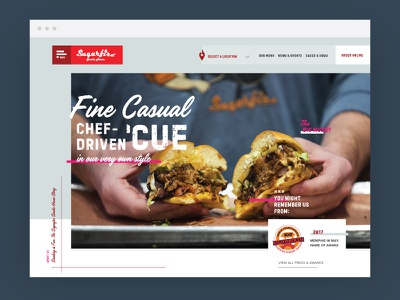 Barbecue Restaurant Website responsive css awards photography typography food website restaurant barbecue bbq