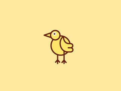 Social Media Chick social media web chick yellow brown white icon