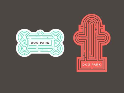 Bark Park dogs dog tags