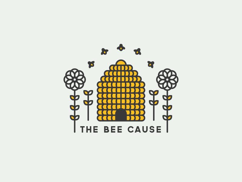 The Bee Cause illustration logo fuzzco