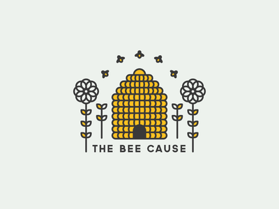 The Bee Cause illustration logo fuzzco