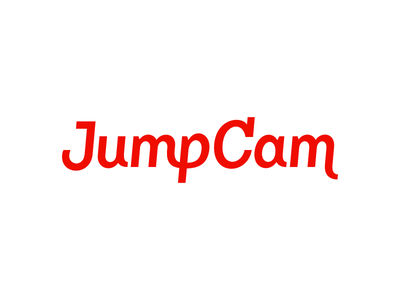 Jumpcam Logo fuzzco typography custom type
