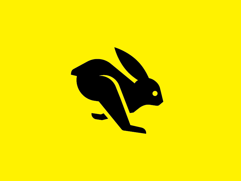 Fast Rabbit is Fast logo icon illustration rabbit identity fuzzco