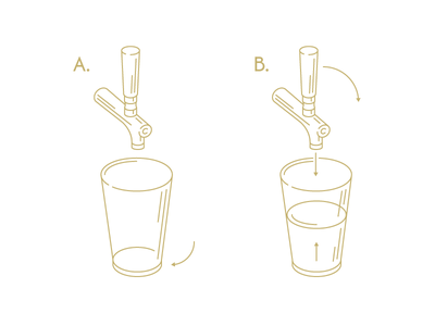 Friday How-To fuzzco illustration beer tap pour