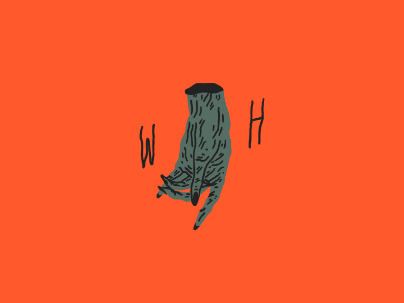 Withered hand illustration