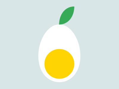 Green egg logo egg