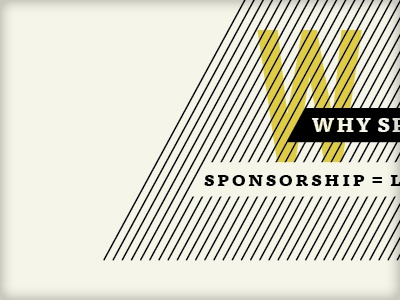 Why Sponsor lines yellow ff tisa black