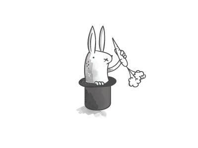 Magic Top Hat rabbit carrot magic hats
