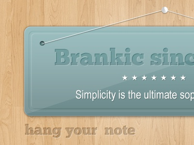 Hanging Note/Banner (PSD) note banner wood freebie psd