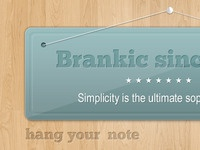 Hanging Note/Banner (PSD)