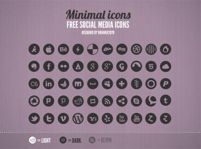 Free Social Media Icons (PSD) social media icons icon social icons psd freebie simple minimal clean