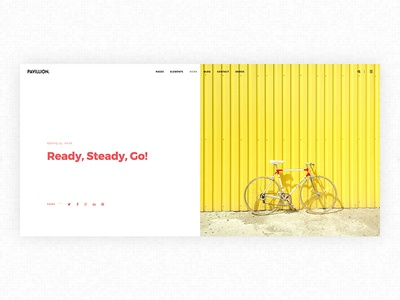 Pavillion - Creative WP Theme web design minimal hero layout design clean template website web