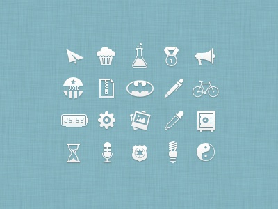 Icon Set...still in progress icon icons set simple clean pixel psd freebie