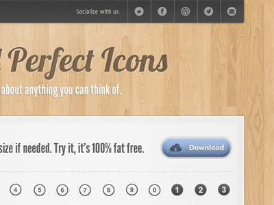 350 - Wood Layout wood layout web design design icons ui simple
