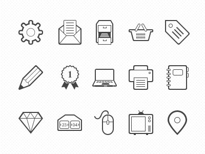 New Icon Set icon icons set simple clean pixel psd freebie vector