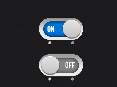 On/Off Switch connect now buttons ui