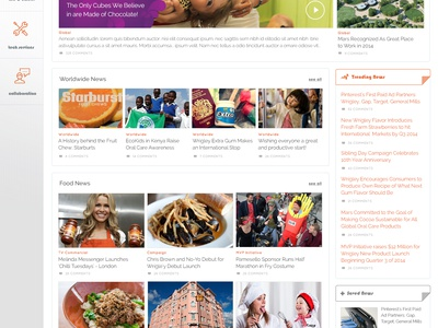 Mars Food Intranet Portal mars food news intranet portal flat ui web splash left nav