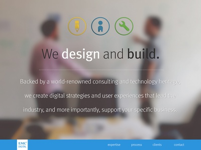 Another landing page icons web ui flat landing page parallax