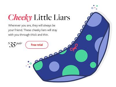 Introducing, Cheeky Little Liars daily inpiration polka undies cheeky
