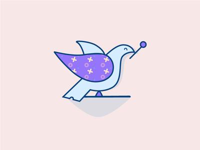 Magic Dove purple magic nyc love peace dove