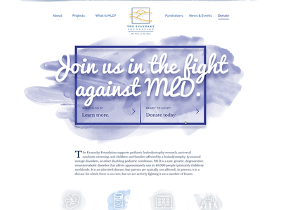 Nonprofit homepage disease mld nonprofit charity home homepage website web watercolor