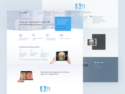 SkinIO for Providers landing page skin skin cancer dermatologists doctors landing web