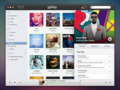 Spotify for Mac spotify mac redesign spotify redesign mac redesign os x mac app os x app spotify app concept music sketch