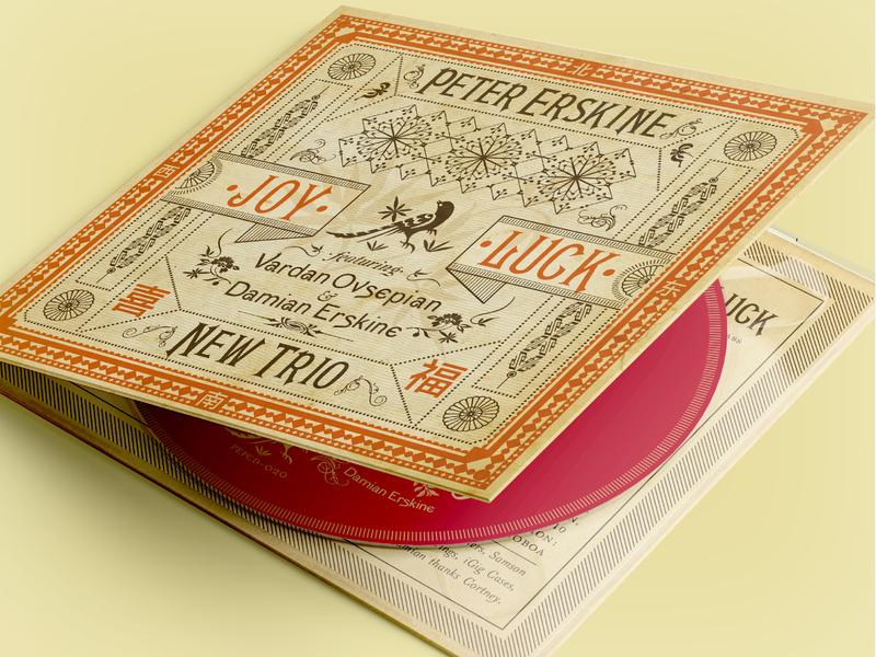 Peter Erskine Trio Joy Luck CD Package branding packaging design cover artwork album cover music album artwork typography graphic design
