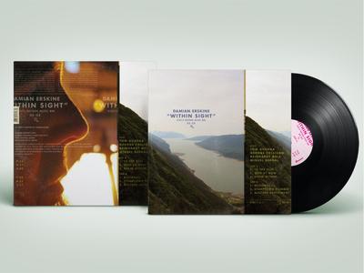 Damian Erskine – Within Sight vinyl record branding packaging design graphic design music typography cover art album artwork album cover