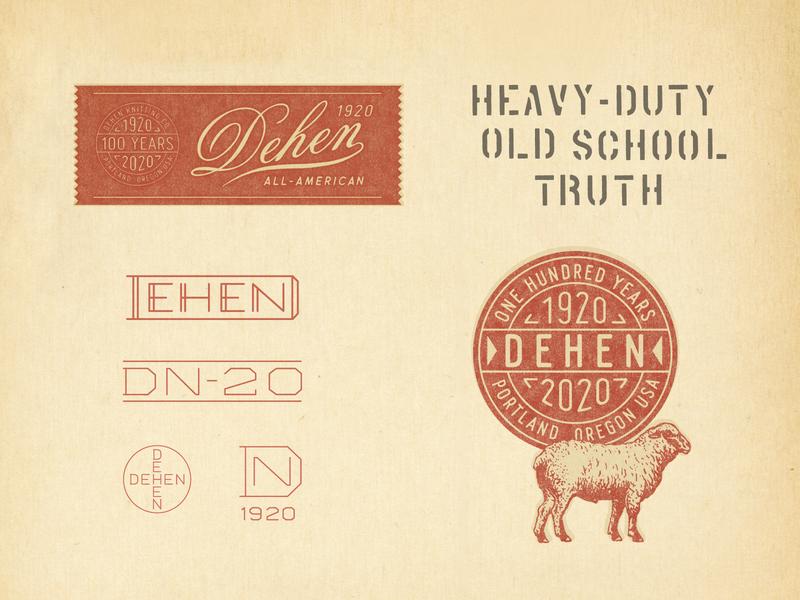 Dehen 1920 100th Anniversary Branding vintage t-shirt design sportswear branding illustration graphic design