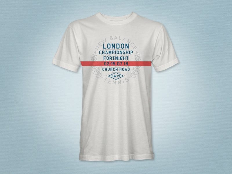 New Balance Tennis – Wimbledon t-shirt design tennis sports branding illustration graphic design