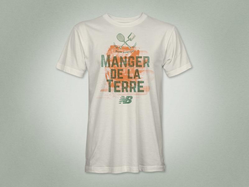 New Balance Tennis – Roland Garros french open t-shirt design tennis sports branding illustration graphic design
