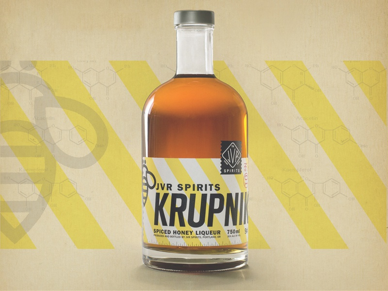 JVR Spirits – Krupnik industrial vintage spirits logo design krupnik graphic design food and beverage branding label design