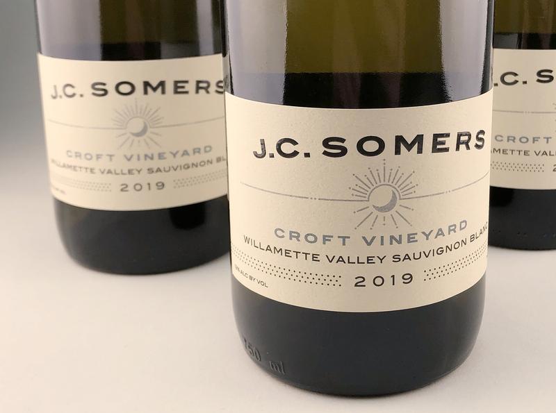 JC Somers Vintner oregon logo design graphic design food and beverage branding label design wine