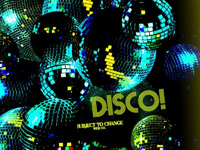Disco! Wine Label
