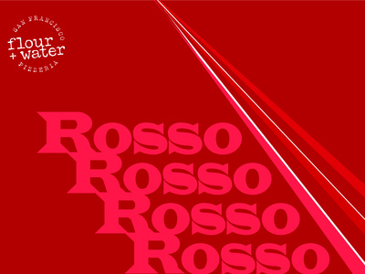 Rosso Red Blend Wine Label