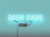 "Neon ""Bang Bang"" Wine Label"
