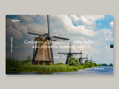Lonely Planet-concept traveling typography ux travel design webdesign netherlands lonely planet
