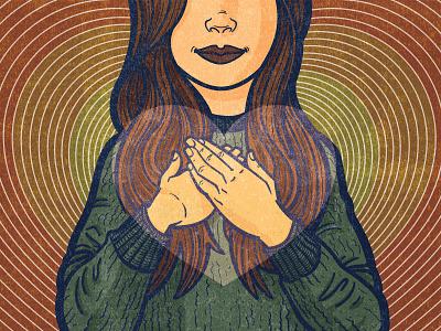 Thanksgiving design graphic design editorial blockprint lino digital acrylic ink editorial illustration illustration