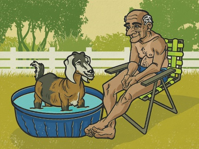 The Guy and his Goat goat digital illustration design graphic design editorial digital acrylic ink editorial illustration illustration