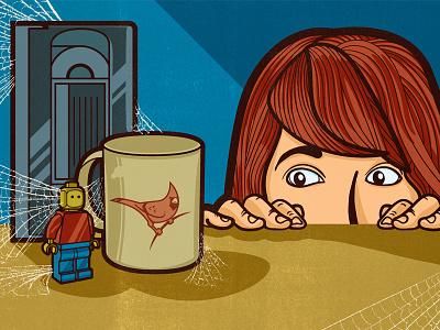 Safe Place lino ink acrylic blockprint digital editorial illustration illustration