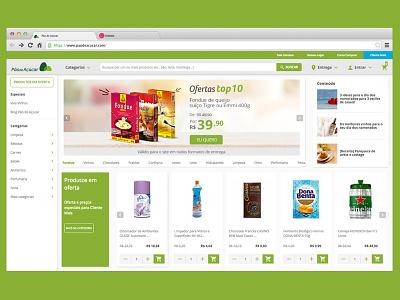 Grocery retail e-commerce in Brazil brasil e-commerce interaction design interface ux design