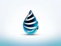 3D Vector Liquid Logo