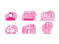 You and Media website illustration